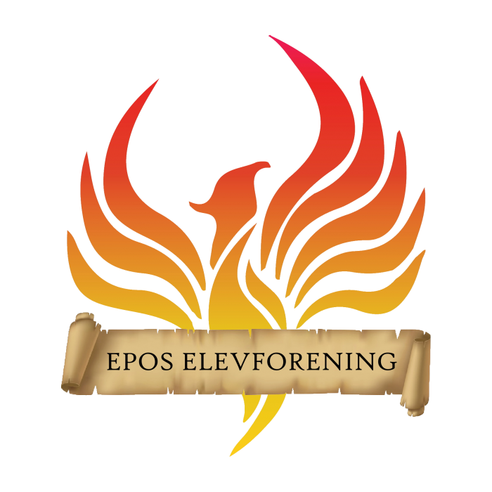 Epos Elevforening logo rød ingen baggrund